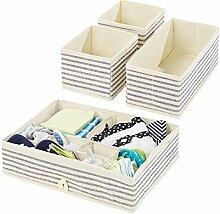 mDesign 4er-Set Kinderzimmer Aufbewahrungsbox –