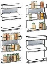 mDesign 4er-Set Küchenregal aus Metall –