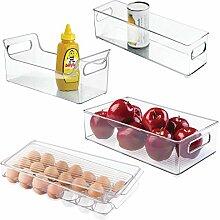 mDesign 4er-Set Kühlschrankbox - 2 x