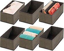 mDesign 6er-Set Aufbewahrungsbox – Schubladen