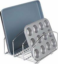 mDesign Abtropfgestell – Design Geschirrablage für mehr Ordnung in der Küche – Geschirrhalter aus verchromtem Metall