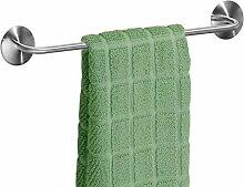 mDesign AFFIX Handtuchhalter ohne Bohren, silber -