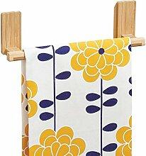 mDesign AFFIXX Handtuchhalter ohne Bohren Bambus – ideal als Geschirrtuchhalter – Handtuchstange selbstklebend – bis zu 1,36 Kg belastbar