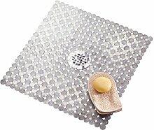 mDesign Badematte, Duschmatte – durch Saugnäpfe nicht rutschende Matte für Badezimmer – sicherer Halt und schickes Design
