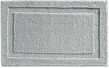 mDesign Badematte rutschfest - großer Mikrofaser Badvorleger für Bad oder Küche - besonders pflegeleichter Duschvorleger - grau