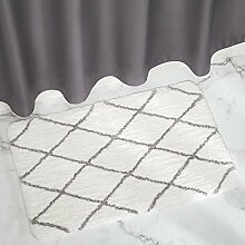 mDesign Badematte rutschfest ? großer Mikrofaser Badvorleger für Bad oder Küche ? besonders pflegeleichter Duschvorleger ? weiß/grau