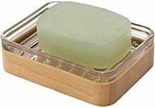 mDesign Bambus Seifenschale - praktischer und