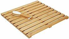 mDesign Bambusmatte – rechteckiger Badvorleger