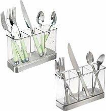 mDesign Besteckkorb für Messer, Gabeln, Löffel