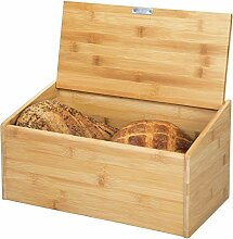 mDesign Brotkasten aus Holz - Brotbox mit Deckel