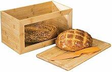 mDesign Brotkasten aus Holz - Brotbox mit
