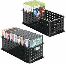 mDesign CD Aufbewahrungsbox - Aufbewahrungsbox