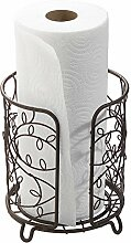 mdesign Deko Metall Draht Papier Handtuchhalter
