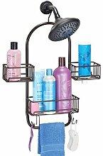 mDesign Duschablage zum Hängen – praktisches