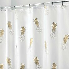 mDesign Duschvorhang mit Ananasmuster -