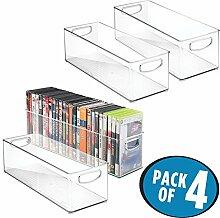 mDesign DVD Aufbewahrungsbox 4er-Set -