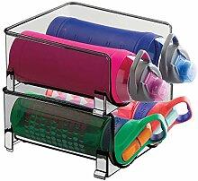 mDesign Freistehende Wasserflasche aus Kunststoff,