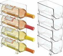 mDesign Freistehendes Wasserflaschen- und