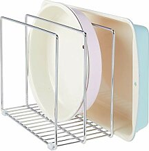 mDesign Geschirrablage aus Metall für Backbleche