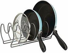 mDesign Geschirrablage für Kochtöpfe, Deckel und