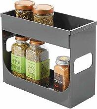 mDesign Gewürzregal für Küchenschrank -
