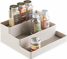 mDesign Gewürzregal für Küchenschrank und