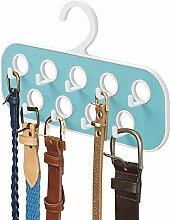 mDesign Gürtelhalter mit 9 Haken - praktische
