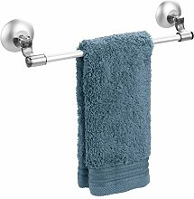 mDesign Handtuchstange selbstklebend - Geschirrtuchhalter Küchenschrank - Handtuchhalter ohne Bohren - rauchfarbend/silber