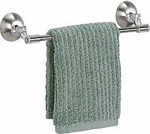 mDesign Handtuchstange selbstklebend - Geschirrtuchhalter Küchenschrank - Handtuchhalter ohne Bohren - aus gebürstetem Edelstahl