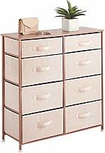 mDesign Kommode mit 8 Schubladen für Spielzeug