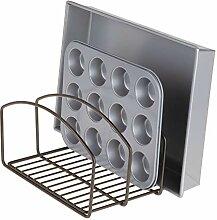 mDesign Küchen Organizer – Geschirrablage mit