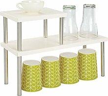 mDesign Küchenregal mit 2 Ablagen - schmales