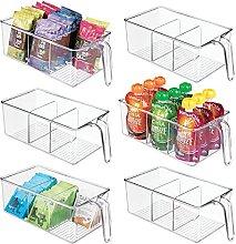 mDesign Kunststoff Küche Speisekammer Schrank