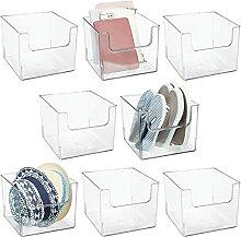 mDesign Kunststoff-Mülleimer mit offener