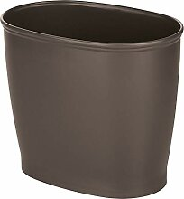 mDesign moderner ovaler Kunststoff-Mülleimer für