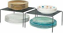 mDesign Moderner quadratischer Küchenschrank aus