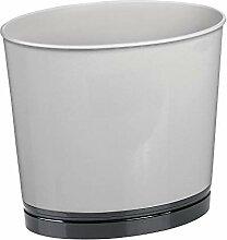 mDesign Mülleimer für Bad und WC - ovaler