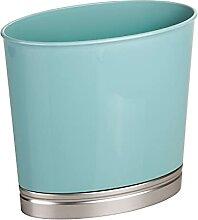 mDesign Mülleimer für Bad und WC – ovaler