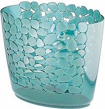 mDesign Mülleimer in blau mit tollem Muster - ideal als Abfalleimer oder als einfacher Papierkorb - robuster Kunststoff - für Küche, Bad und Büro - aufregendes Design - blau