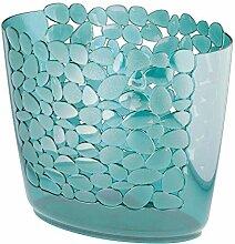 mDesign Mülleimer in blau mit tollem Muster -