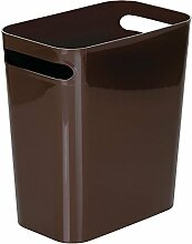 mDesign Mülleimer mit Griffen ? ideal als Abfalleimer oder als einfacher Papierkorb ? robuster Kunststoff ? für Küche, Bad und Büro ? modernes Design ? Farbe: dunkelbraun