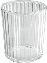 mDesign Papierkorb Mülleimer für Bad, Büro, Küche - Durchsichtig