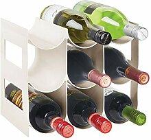 mDesign praktisches Wein- und Flaschenregal –