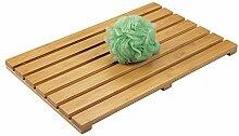 mDesign rutschfeste Bambusmatte für den Innen-