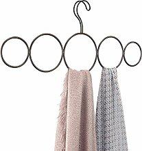 mDesign Schalbügel - für die organisierte Aufbewahrung von Schals und Tüchern in Ihrem Kleiderschrank - ideal als Schalhalter und Schalorganizer - 5 Schlaufen - Farbe: bronze