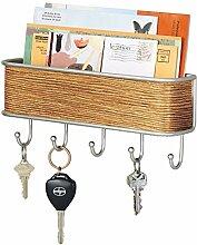 mDesign Schlüsselbrett mit Ablage - vielseitiges