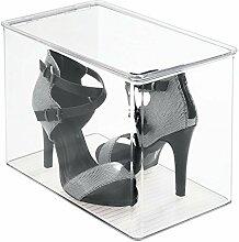 mDesign Schuhbox - Schuhaufbewahrung mit Deckel -