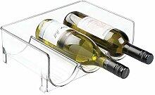 mDesign Stapelbares Weinregal für Kühlschrank,