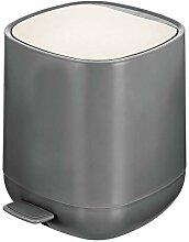 mDesign Tretmülleimer – 5 L Mülleimer aus