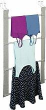 mDesign Türgarderobe - Flurgarderobe mit 4 Stangen für Handtuch, Pullover oder Jacken - Garderobe ohne Bohren einfach an der Tür montieren - für Türen bis 5,1 cm Stärke
